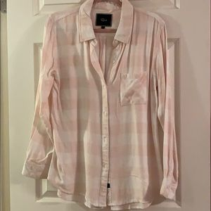 rails pink and white buffalo check flannel